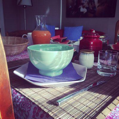 Les filles tresy ontbijttafel